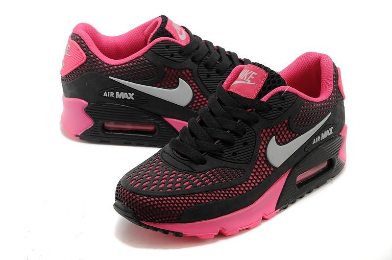 basket femme air max noir et rose